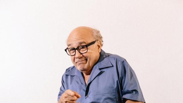 """-- PHOTO MOVED IN ADVANCE AND NOT FOR USE - ONLINE OR IN PRINT - BEFORE SEPT. 2, 2018 -- Actor Danny DeVito in Los Angeles, Aug. 17, 2018. DeVito, a mainstay of the defiantly lewd, boundary crossing comedy """"It's Always Sunny in Philadelphia,"""" says the show isn't about to show restraint in the upcoming 13th season. (Elizabeth Weinberg/The New York Times) ."""