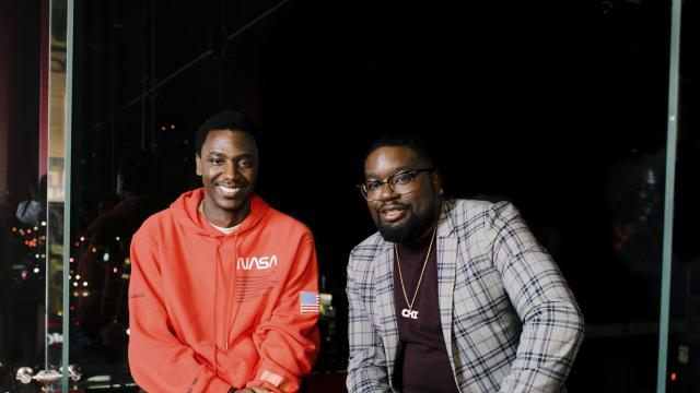 "Comedians Jerrod Carmichael, left, and Lil Rel Howery in New York, Sept. 4, 2018. The former co-stars of ""The Carmichael Show"" on NBC are now collaborating on Howery's new sitcom, ""Rel,"" which premiered Sunday night on Fox. (Heather Sten/The New York Times)"