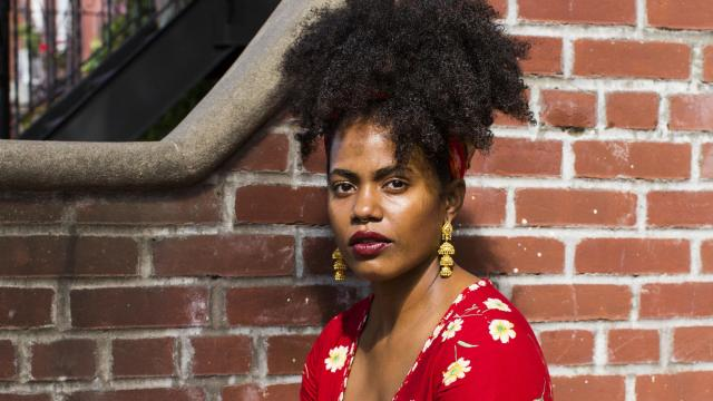 """Akwaeke Emezi, whose novel """"Freshwater"""" was published by Grove in February, in New York, Oct. 12, 2018. A number of first novels from transgender authors with purely literary designs — including playing with genre — are getting attention. (Frances F. Denny/The New York Times)"""