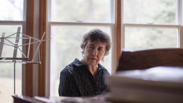 Joan Tower, the contemporary composer, at her home in Red Hook, N.Y., Nov. 8, 2018. Tower, who turned 80 in September 2018, has been commissioned by the New York Philharmonic for a new work to debut in a future season. (Lauren Lancaster/The New York Times)