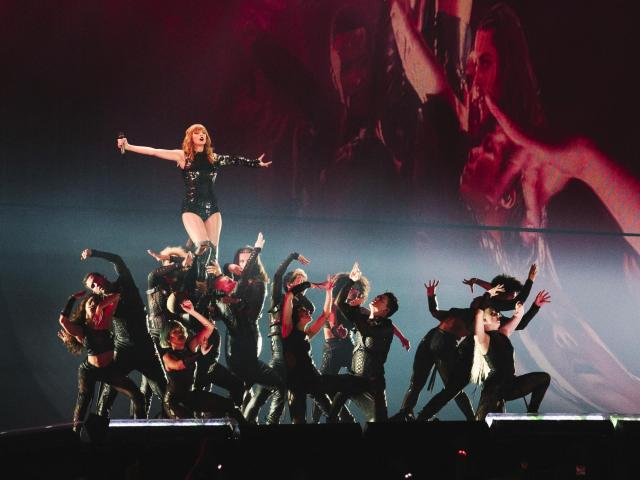 "FILE-- Taylor Swift performs ""I Did Something Bad"" during the opening engagement of her ""Reputation"" stadium tour at the University of Phoenix Stadium for in Glendale, Ariz., May 8, 2018. The singer announced Nov. 19 on Instagram that she had signed a multiyear, multi-album agreement with Universal Music Group and its subsidiary, Republic Records. As part of the deal, Swift, 28, will own her master recordings moving forward, she said. (Caitlin O'Hara/The New York Times)"
