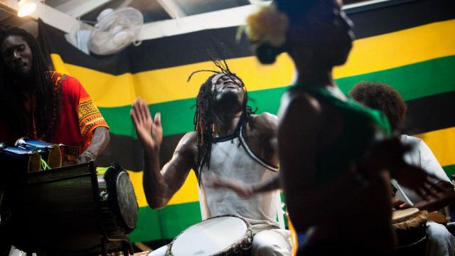 FILE -- Drummers perform at the Seastar Inn in Negril, Jamaica, on Feb. 28, 2011. UNESCO is expected to announce a decision on Jamaica's application to put reggae on the world body's list of the intangible cultural heritage of humanity. (Piotr Redlinski/The New York Times)