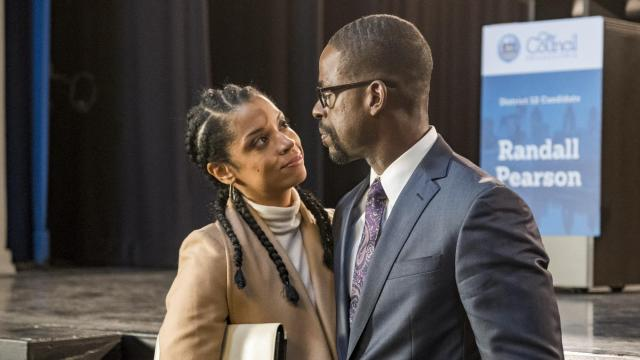 """THIS IS US -- """"The Beginning is the End is the Beginning"""" Episode 309 -- Pictured: (l-r) Susan Kelechi Watson as Beth, Sterling K. Brown as Randall -- (Photo by: Ron Batzdorff/NBC)"""