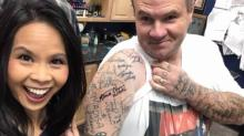 IMAGES: Wilson County man has more than 250 tattoos of celebrity autographs