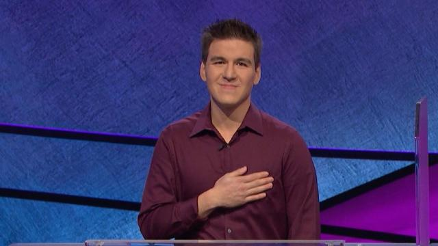 James Holzhauer, a 34-year-old professional sports gambler from Las Vegas, won Jeopardy on April 9, 2019 with a total of $110,914 -- breaking the record for single-day cash winnings, the quiz show said in a press release. (Jeopardy!)