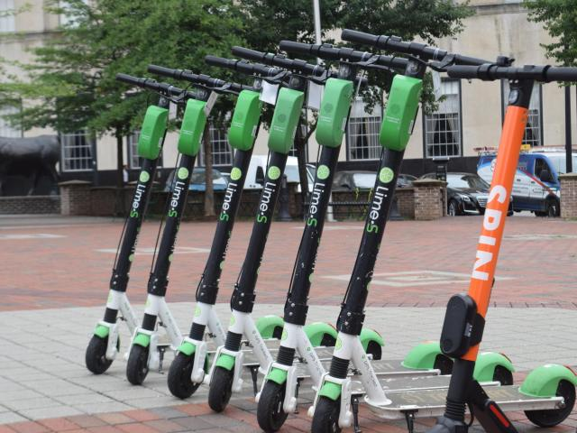 Four electric scooter companies will move into Durham on Thursday as two electric scooter companies prepare to leave Raleigh next month.<br/>Reporter: Sarah Krueger