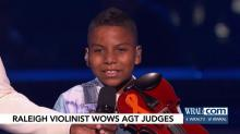 IMAGES: Back again! Young Raleigh violinist wows AGT audience with 'Don't You Worry Child'