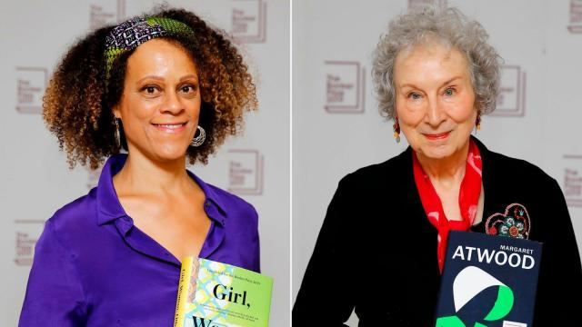 Bernardine Evaristo, left, and Margaret Atwood are co-winners of this year's Booker Prize.