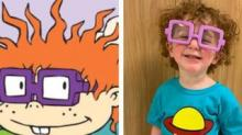 IMAGE: This Boy's 'Rugrats' Chuckie Finster Halloween Costume Is Going Viral