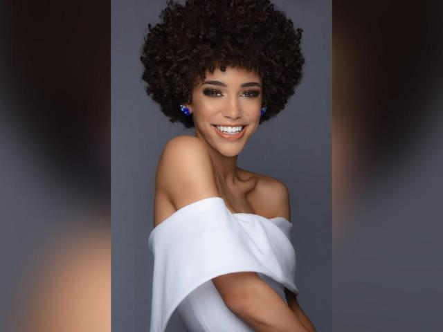 Garris says she feels more confident and comfortable with her naturally curly hair. (Miss Universe)