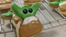IMAGE: This Clever Baker Made Baby Yoda Cookies By Cutting The Heads Off Angel Cookies