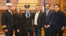 IMAGE: Bruce Springsteen's Son Was Just Sworn In As A New Jersey Firefighter