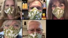 IMAGE: 'The Sound Of Music' Cast Reunites To Wear Face Masks Inspired By Movie