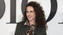 IMAGE: Andie MacDowell Embracing Her Natural 'silver Fox' Hair In Lockdown