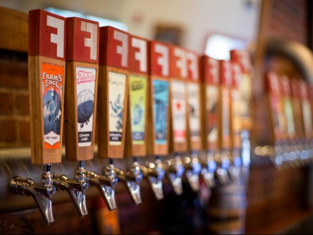 Fullsteam Brewery in Durham, N.C. emphasizes local ingredients in their beers. In February 2020, it spent approximately $9,000 on Southern ingredients — mainly N.C. grains. (Photo courtesy of Sean Wilson, Fullsteam Brewery)