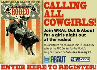 WRAL Out & About Girls Night Out at the Rodeo - Splash Image