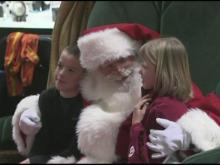 Children lined up to see Santa on Black Friday at Triangle Town Center.