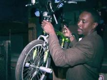 Durham police donate bikes