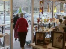 Cameron Village shoppers