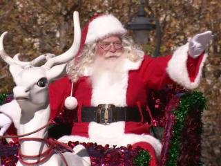 Santa Claus arrived at the 2012 WRAL Raleigh Christmas Parade.