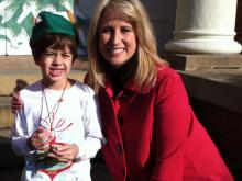 """Lucky Lane"", Lane Barton, the youth arthritis patient honoree for today's Jingle Bell Run! (Photo courtesy Lee Lane)"