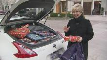 Lou Cunningham filled her car with Christmas gifts.