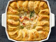 Turkey and Veggie Alfredo Pot Pie