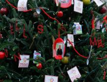 See photos from the third annual Triangle Christmas Tree Challenge. Each tree represents an area non-profit organization.