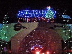 Three million lights illuminate the Christmas display at Charlotte Motor Speedway. (Photo by Robert Meikle)