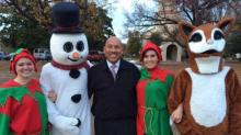 IMAGES: Baez helps light Fayetteville for the holidays