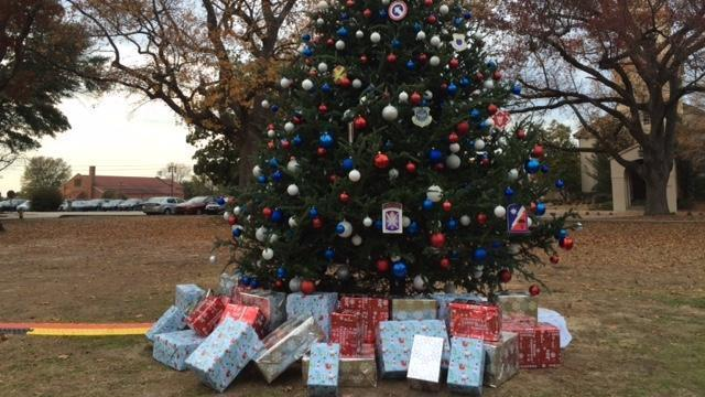 The Fayetteville tree was lit for the holidays Dec. 4, 2014.