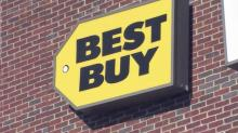 Eager shoppers spend Thanksgiving Day outside Best Buy