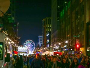 The acorn drops and fireworks light the sky to ring in 2016. Thousands descend on downtown Raleigh to celebrate First Night Raleigh on December 31, 2015. (Chris Baird / WRAL Contributor).