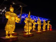 The North Carolina Chinese Lantern Festival returns to Koka Booth Amphitheatre for its second year.   It will be open November 25, 2016 through January 15, 2017.   Every lantern is hand made by visiting Chinese artisans and glows with thousands of LED lights.   Photo by:  Suzie Wolf