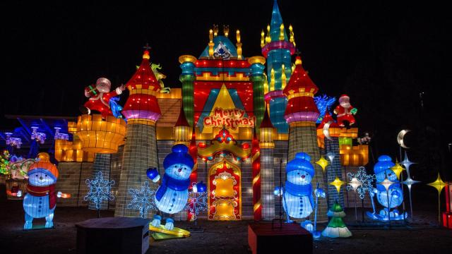 the north carolina chinese lantern festival returns to koka booth amphitheatre for its second year