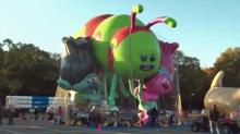 Giant balloons, security ready for Thanksgiving Day Parade
