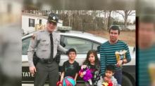 IMAGE: Children of Benson woman killed in crash get Christmas surprise from troopers