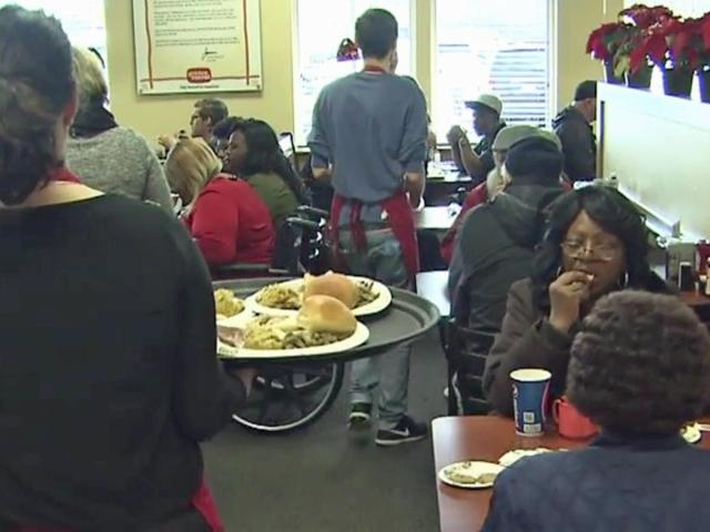 for the 41st year the golden corral on raleighs glenwood avenue celebrated christmas in a