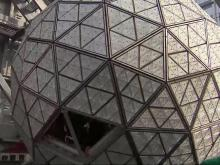 Times Square ball readied for New Year's Eve closeup
