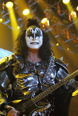 Kiss co-founder Gene Simmons smiles for the camera.