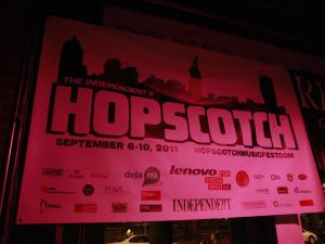 Hopscotch poster at Tir Na Nog