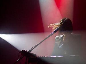 Sarah Barthel of Phantogram performs at Cat's Cradle on Nov. 15, 2011.