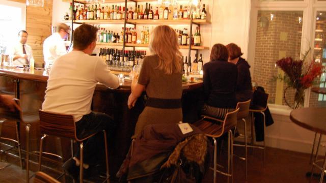Small plates at Mandolin's bar