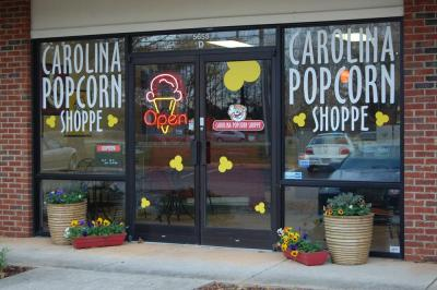 Carolina Popcorn Shoppe is located at 5655 Western Blvd. in Raleigh.