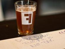 An 8-oz. pour of one of Fullsteam's beers. (Photo by Richard Mitchell)