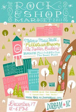 Rock & Shop Market poster - December 17, 2011 show