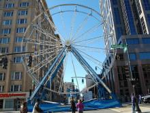 The ferris wheel for First Night Raleigh went up on Dec. 30, 2011. It took five hours to build the 90-foot ride.