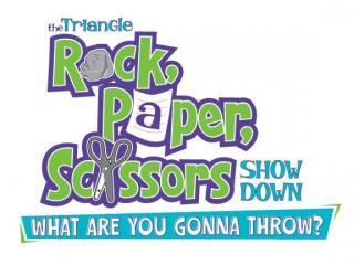 Triangle Rock Paper Scissors showdown