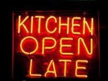 Kitchen open late!