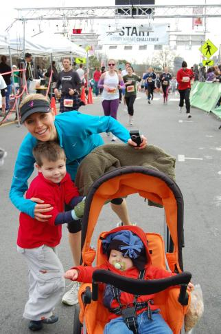 WRAL anchor Kelcey Carlson raced with her children.